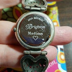 Brighton Accessories - Brighton Madison heart watch w black leather band